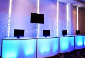 LED bars for tech lounge at conference
