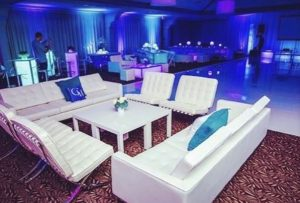 lounge furniture at event