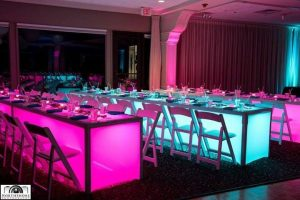 LED tables special event