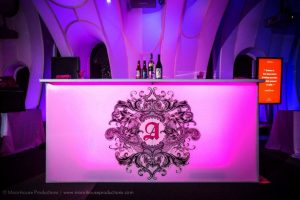 custom LED bar at special event