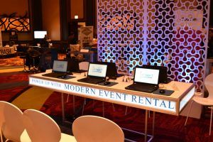 custom event rentals at conference
