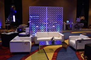 lounge furniture rentals at conference