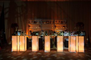 LED bar at reception
