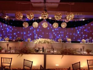 event rentals for wedding reception