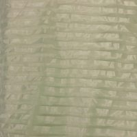WHITE HORIZONTIAL STRIPE SHEER DRAPERY PANEL