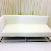 white-leather-right-arm-bench