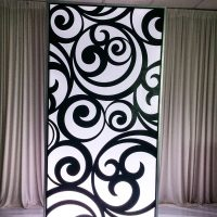 MODERN ILLUMINATED ECLIPTIC WALL PANEL (4FTX8FTX12IN)