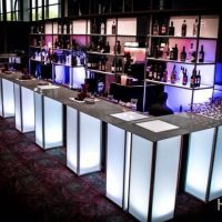 MODERN MODULAR ILLUMINATED PEDESTAL BAR (CALL FOR SIZES AND PRICING)