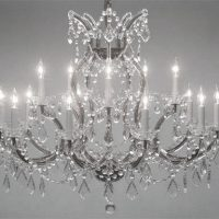 LARGE CLEAR CRYSTAL CHANDELIER