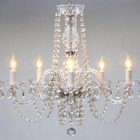 SMALL CLEAR CRYSTAL CHANDELIER
