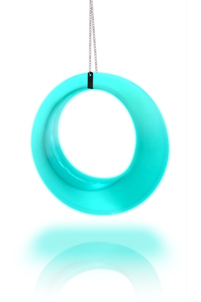 teal led swing