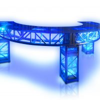 led big curved truss bar