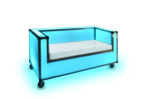 blue led couch rental