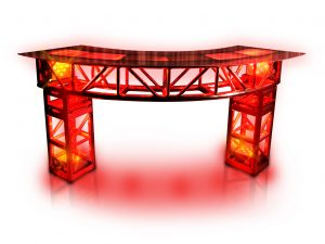 led curved truss bar red