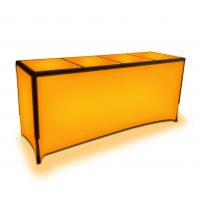 orange metro led bar table