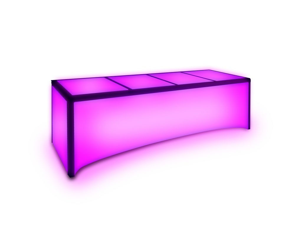 pink metro led table