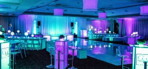 LED furniture at special event