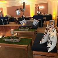 natural rustic wood event furniture