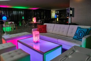 LED bat mitzvah furniture