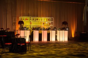 illuminated bar at special event