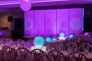 led furniture at mitzvah