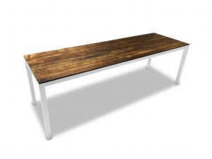 wood table for events
