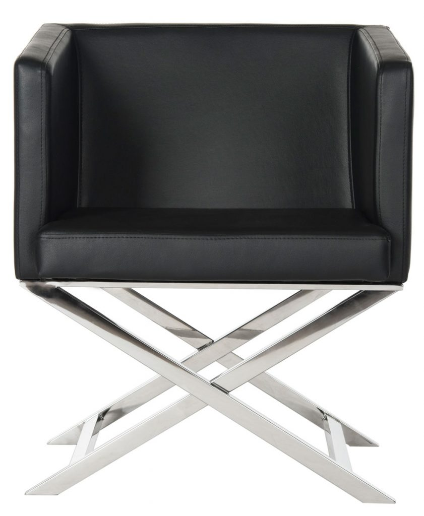 Black lounge accent chair